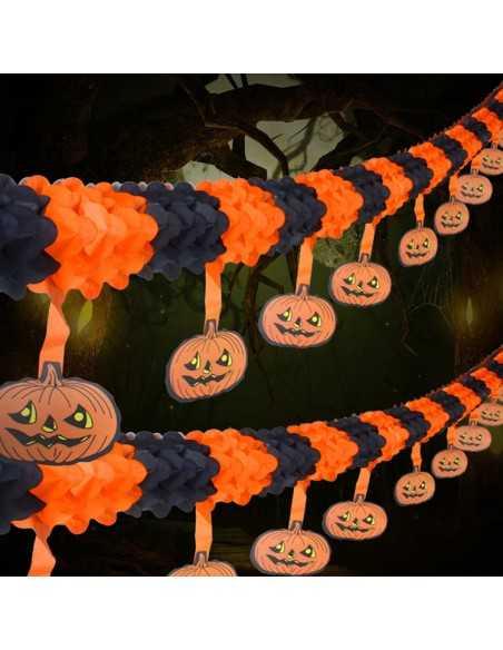 Guirnalda de Papel Colgante Diseños Variados Halloween  Guirnalda Halloween