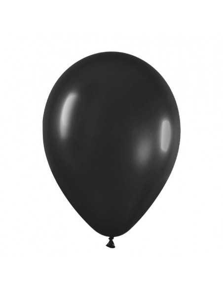 BOLSA GLOBOS N°09 (50 unidades) Negro  Globos