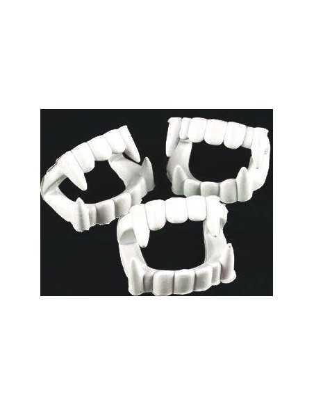 Dientes de Vampiro Blanco (12 unidades)  Halloween