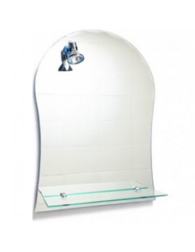 Espejo Con Luz Y Repisa Para Baño