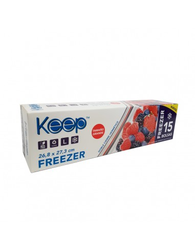 Bolsa Hermética Freezer 15 Unidades