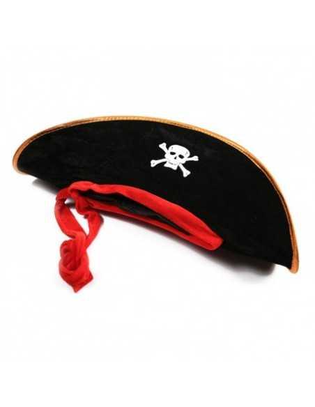 SOMBRERO PIRATA NEGRO CON CINTA  Sombreros (Halloween)