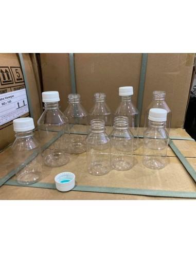 Botellas 100ml con tapa blanca