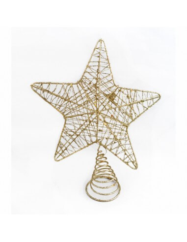 Estrella de Árbol Navideño de Alambre...