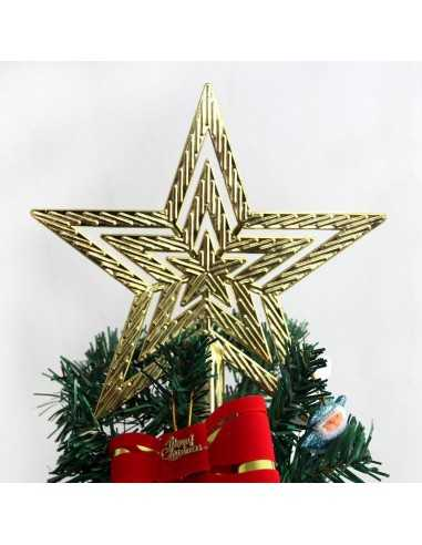Estrella de Árbol Navideño de Plástico.