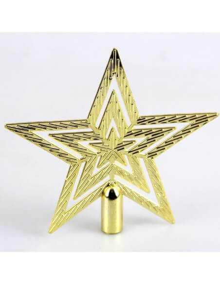 Estrella de Árbol Navideño de Plástico.  Hogar