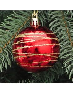 Esfera rayada navidad...