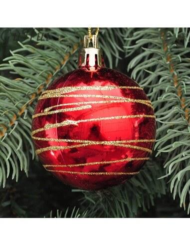 Esfera rayada navidad Mediana Unidad