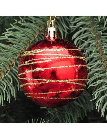 Esfera rayada navidad Mediana Unidad  Especiales