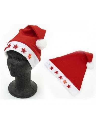 Gorro de Navidad con luces LED DOCENA.