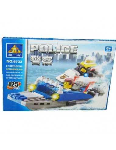 Block Lancha Police  Block - Lego