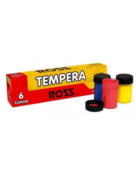 CAJA DE TEMPERA DE 6 COLORES  Pincel, Tempera