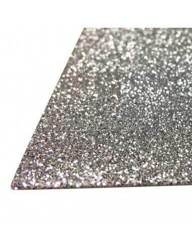 GOMA EVA CON GLITTER PLATEADO importado Carpetas