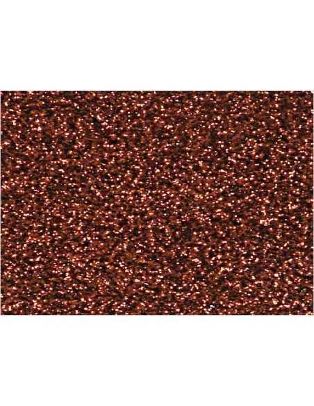 GOMA EVA CON GLITTER CAFÉ importado Carpetas
