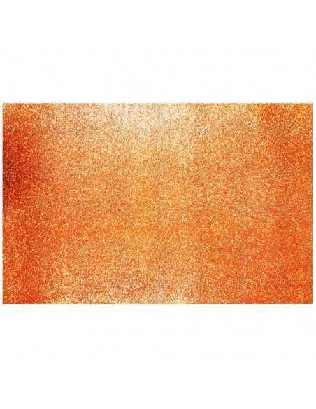 GOMA EVA CON GLITTER NARANJO importado Carpetas