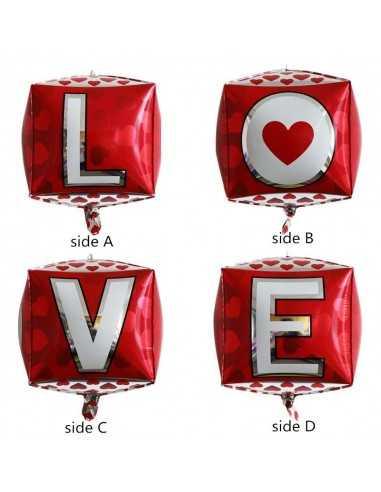 GLOBO 4D LOVE importado Dia de los Enamorados