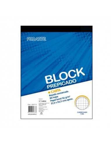 BLOCK PREPICADO CARTA 7MM  Liberia y Papelería