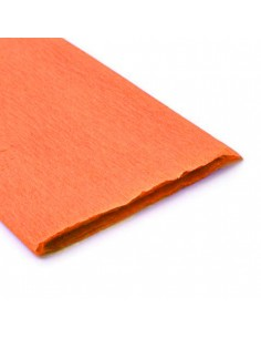 Pliego de Papel Crepe Naranjo