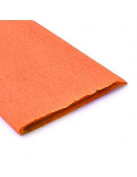 Pliego de Papel Crepe Naranjo importado Pliego