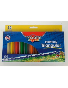 PLASTICINA TRIANGULAR 12 UNI