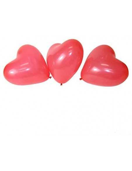 GLOBO CORAZÓN ROJO 5 UNIDADES importado Dia de los Enamorados