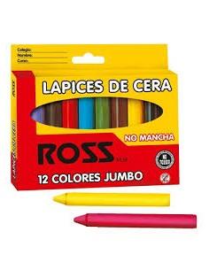 LAPICES DE CERA GRUESOS ROSS