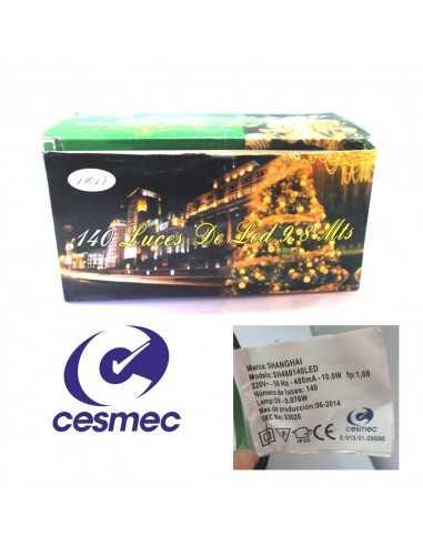 Luz Led Certificada CESMEC 200 Luces  Navidad
