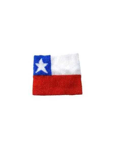 MUÑEQUERA CON BANDERA DE CHILE  Fiestas Patrias