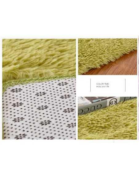 ALFOMBRA SHAGGY 140 X 80 cm Verde  Especiales