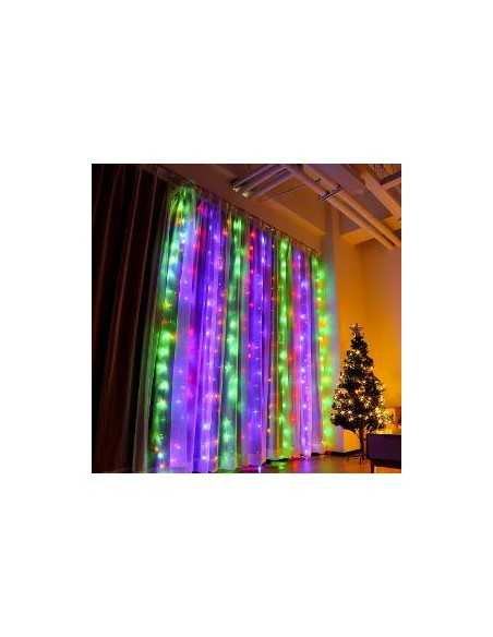 LUZ CORTINA LED 3 X 2 metros  Navidad