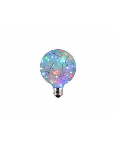 AMPOLLETA LED E27 DECORATIVA G95 1.7W RGB  Especiales