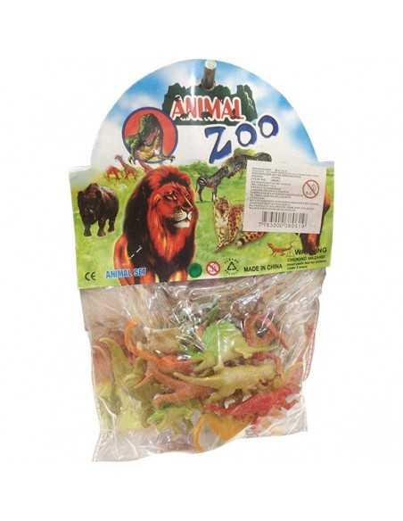 BOLSA DE ANIMALES PLASTICOS ZOO