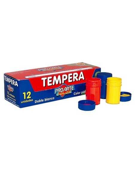 CAJA DE TEMPERA DE 12 COLORES  Pincel, Tempera