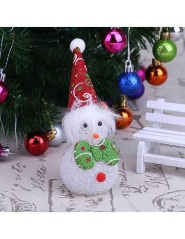 MUÑECO NAVIDAD CON LUZ DISEÑOS  Navidad