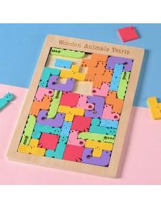 Tetris Grande de Madera Aimales