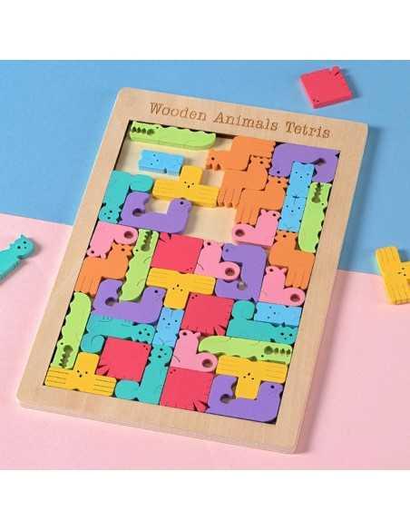 Tetris Grande de Madera Animales  Juegos de Mesa