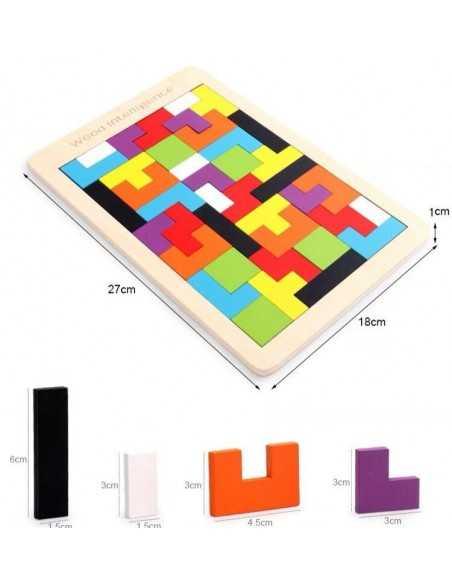 Tetris Grande de Madera