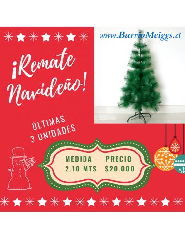 Árbol de Navidad 2.10 mtrs  Navidad