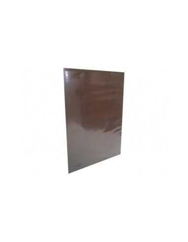CARPETA PLASTIFICADA CON ACOLCLIP CAFE  Carpetas