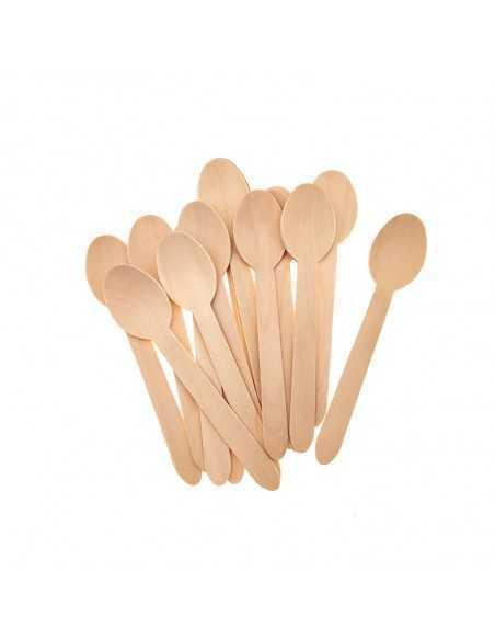 Cucharilla de madera 15 1/2 cm (Paq. 100 Unid.)  Cocina