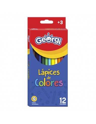 Lapices de Colores Georgi Forma Hexagonal