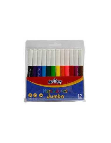 Marcadores Jumbo Georgi 12 colores