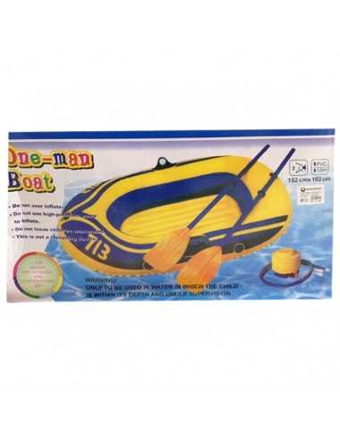 BOTE CON REMOS INFLABLE 1,52 X 1 MTS