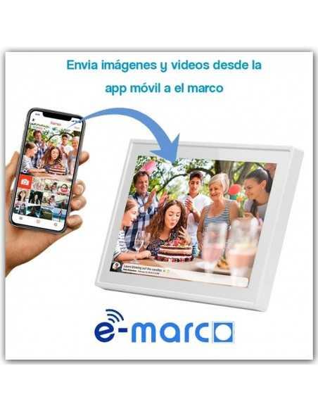 MARCO DE FOTOS Y VIDEO DIGITAL WIFI - NEGRO 15'' E-MARCO